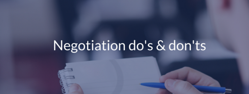 Do's & Don'ts for a Successful Negotiation